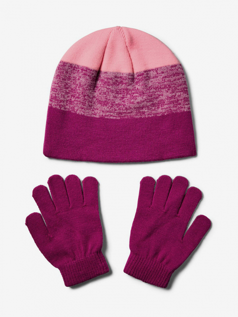 Čepice a rukavice Under Armour Girls Beanie Glove Combo-Pnk