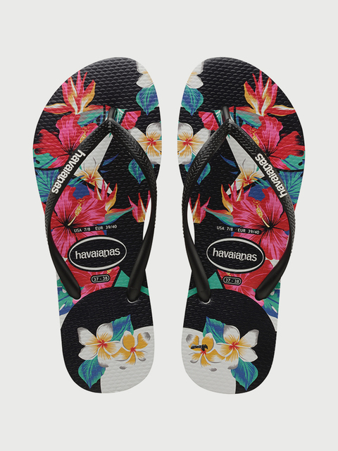 Žabky Havaianas Slim Tropical Floral Black