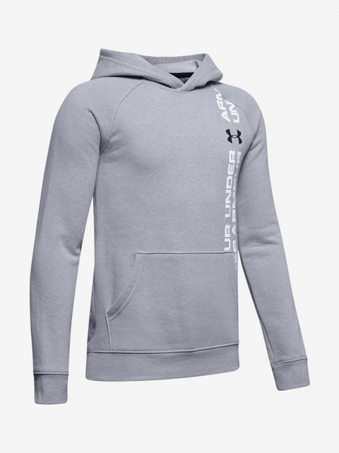 Mikina Under Armour Rival Wordmark Hoody-Gry