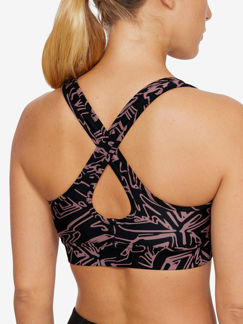 Kompresní podprsenka Under Armour Armour Mid Crossback Printed Bra