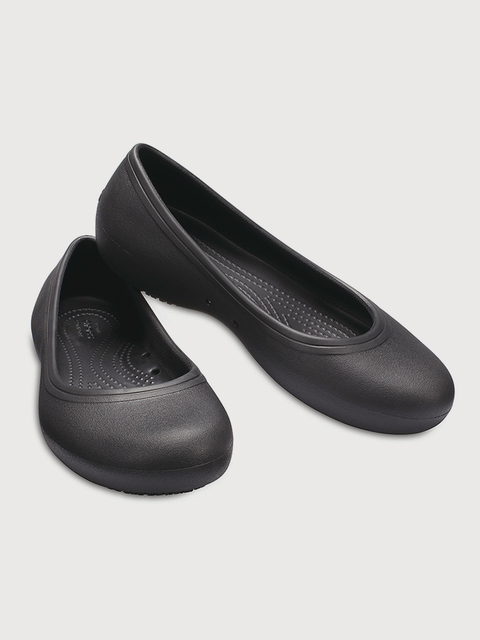 Baleríny Crocs At Work Flat W Black