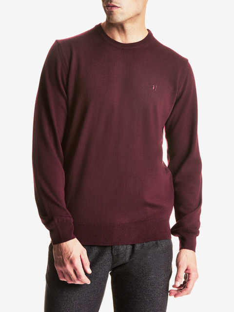 Svetr Trussardi Round Neck Regular Fit Pure Wool