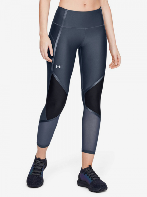 Kompresní legíny Under Armour Hg Shine Ankle Crop-Gry