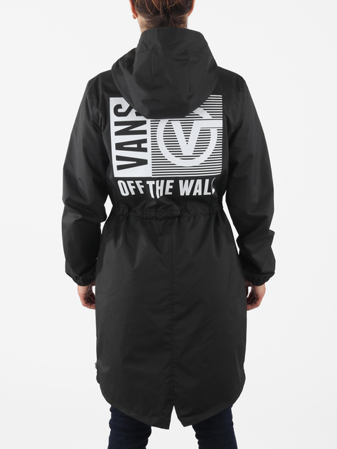 Bunda Vans Wm Kastle Long Parka Black