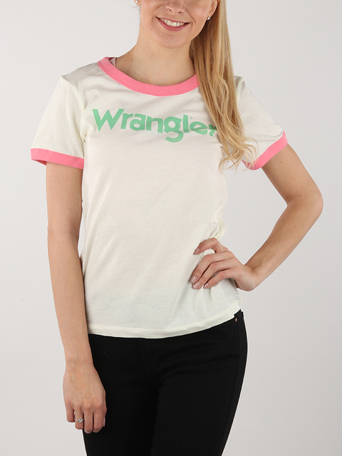 Tričko Wrangler Retro Kabel Tee Ethereal Yellow
