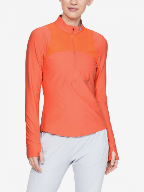 Tričko Under Armour Qualifier Half Zip-Red