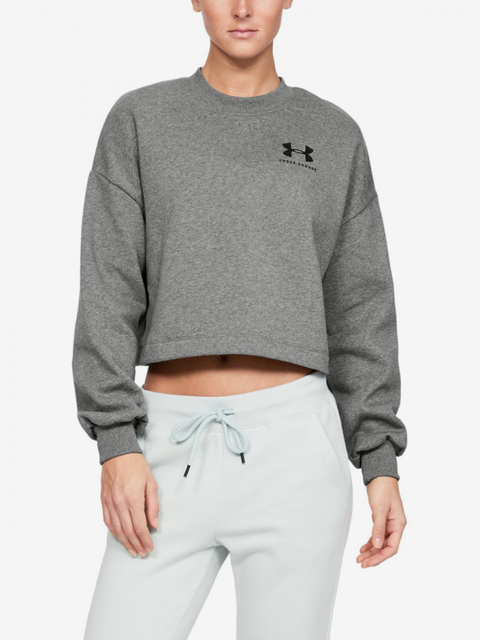 Tričko Under Armour Rival Fleece Graphic Lc Crew-Gry