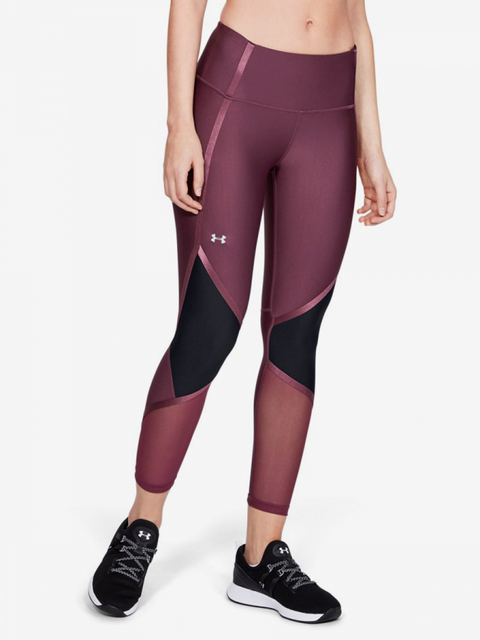 Kompresní legíny Under Armour Hg Shine Ankle Crop-Ppl