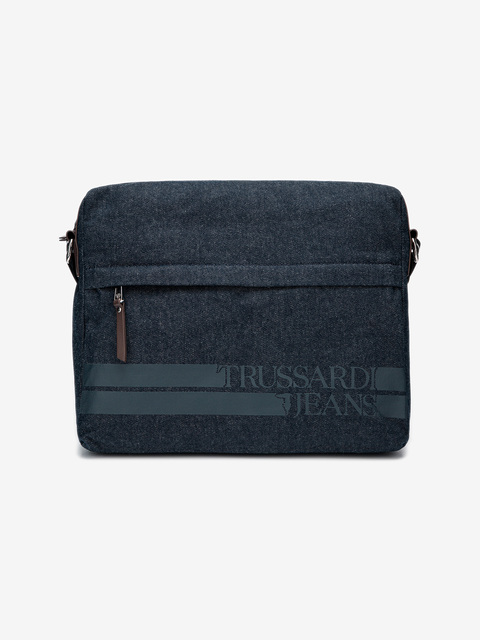 Taška Trussardi Turati Denim Messanger Lg Denim/Ecoleather