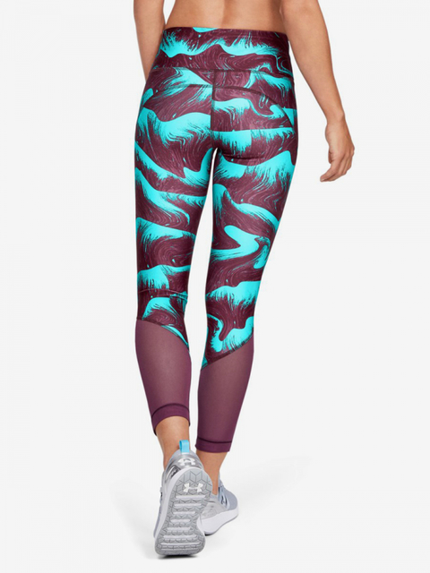 Kompresní legíny Under Armour Hg Mesh Ankle Crop - Print-Ppl