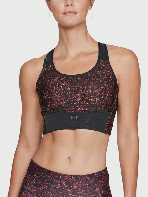Kompresní podprsenka Under Armour Mid Crossback Clutch Printed Bra