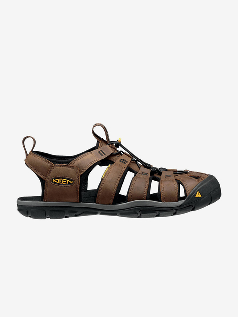 Sandály Keen Clearwater Cnx Leather M Dark Earth/Black Us