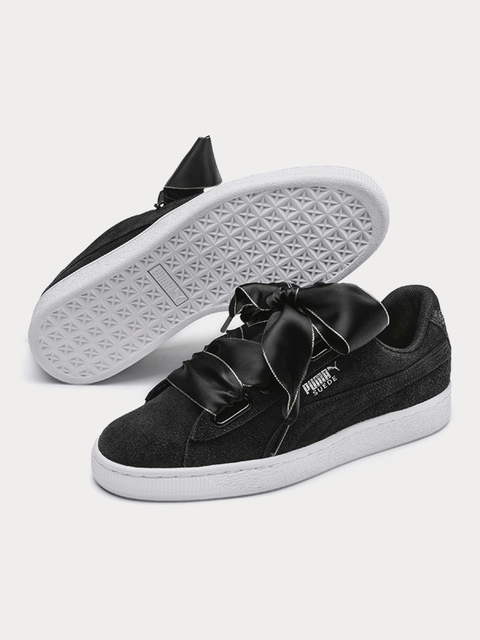 Topánky Puma Suede Heart Galaxy Wn s Black-