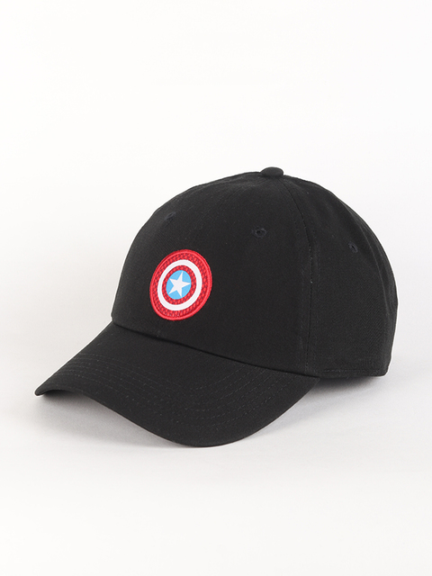 Kšiltovka Vans WM (Marvel) Captain America Shield Courtside Hat Black