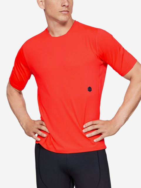 Tričko Under Armour Rush Run Shortsleeve-Red
