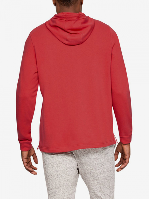 Mikina Under Armour Sportstyle Terry Logo Hoodie-Red