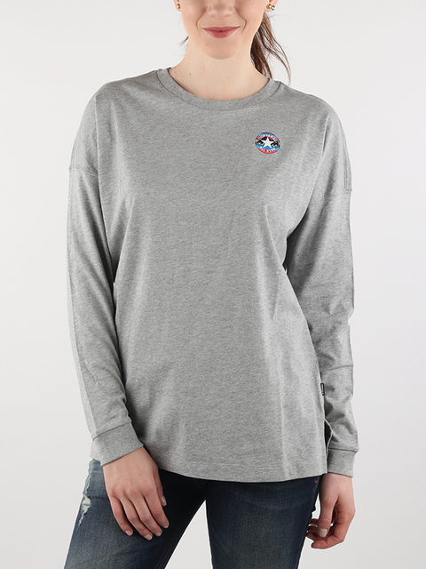 Tričko Converse W Mountain Club Long Sleeve T