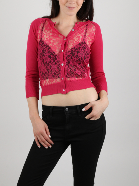 Svetr Alcott LACE ON FRONT CARDIGAN
