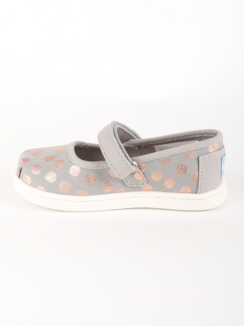 Boty Toms GREY/ROSE GOLD FOIL TN M JANE FLAT