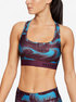 Kompresní podprsenka Under Armour Mid Crossback Printed Bra -Ppl (1)
