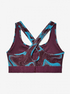 Kompresní podprsenka Under Armour Mid Crossback Printed Bra -Ppl (4)
